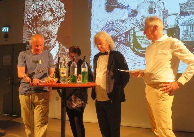 vlnr : Harry van Doveren, Kreek Daey Ouwens, Gerard Luijkenaar, Theo Rikken
