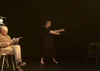 De Filosoof (Meindert Muller) en De Danseres (Annelie David)